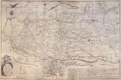 Hamm Karte.Special Charte Aus Dem Amte Hamm Historische Karte Hammwiki
